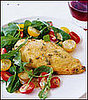 Fast &amp; Easy Dinner: Parmesan-Crusted Chicken with Arugula Salad