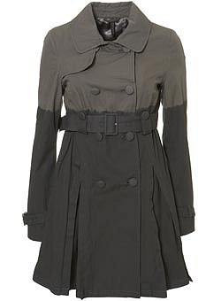 Dip Dye Trench Coat - Topshop