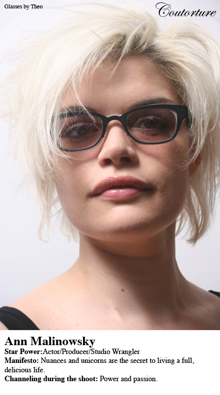 Ann Malinowski in glasses by Theo