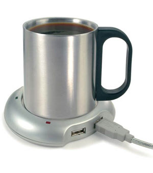 4 Port USB Hub with Mug Warmer