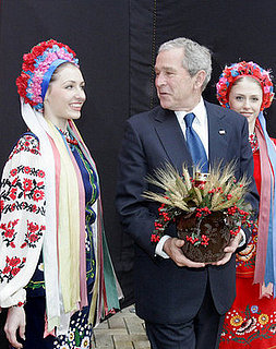 George Bush Visits Eastern Europe