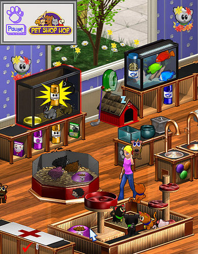 Sneak peek at the online game Pet Shop Hop™