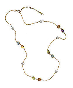 Brian Danielle Multi Stone Necklace