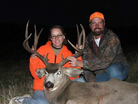That's me and my husband.  That's my second buck.