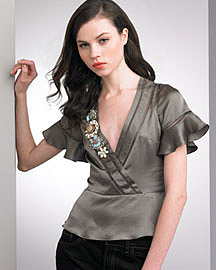 Nanette Lepore�-� Love Note Satin Top