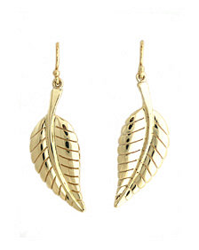 Jennifer Meyer Gold Leaf Earrings