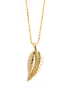 Jennifer Meyer Leaf Necklace