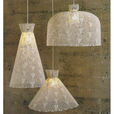 Love  It or Hate It? Crocheted Pendant Lamps