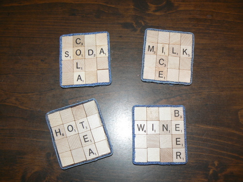 DIY: Scrabble Coasters