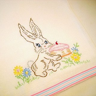 Etsy Find: Embroidered Tea Towel