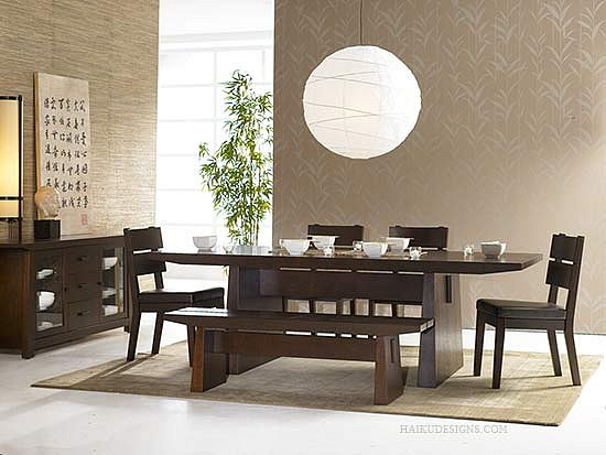 Hiro Dining Room Set - Japanese Style Dining room furniture ...