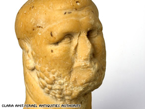 1,800-year-old marble head unearthed in Israel