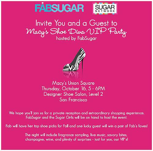 Macy's Shoe Diva VIP Party Hosted by FabSugar!