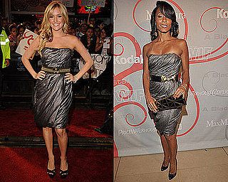 Who Wore It Better? Strapless Metallic Monique Lhuillier Dress