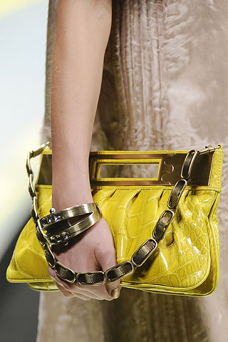 Yellow Versace Clutch