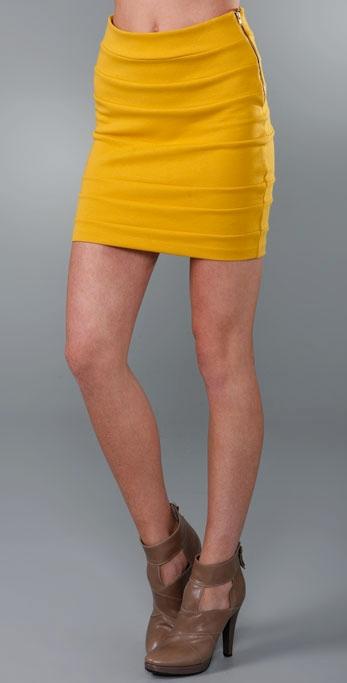 Larsen Gray Banded Miniskirt