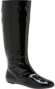 The Look For Less: Yves Saint Laurent Flat Patent Boots