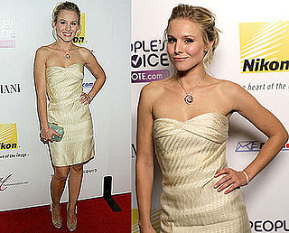 Kristen Bell Wears a Strapless Ivory Monique Lhuillier to Hollywood Life's 5th Annual Hollywood Style Awards
