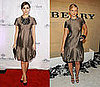 Who Wore It Better? Burberry Metallic Tiered Dress