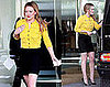 Hilary Duff Votes in Yellow Diane von Furstenberg Cardigan