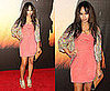 Zoe Kravitz Attends Film Benefit Gala Honoring Baz Luhrmann in Coral Dress