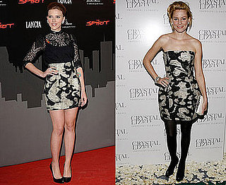 Scarlett Johansson and Elizabeth Banks in Stella McCartney