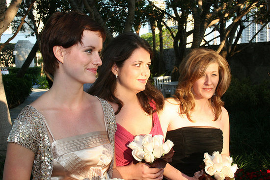 The bridesmaids (my best friends) and sister/moh.