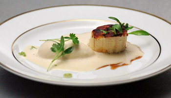 Banana Scallop With Bacon Ice Cream