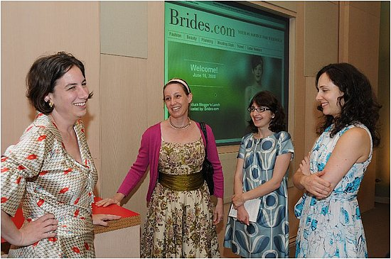 Michelle Preli - editor-in-chief of Brides.com, Emily Anderson of Eco-Chic Weddings, Anne Chertoff of iVillage, and Anna Pezik o