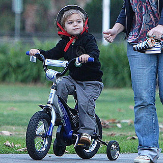 Kingston Rossdale Rides His Bike