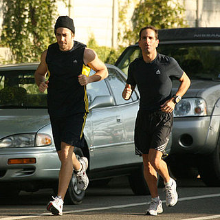 Photo of Jake Gyllenhaal Running in LA
