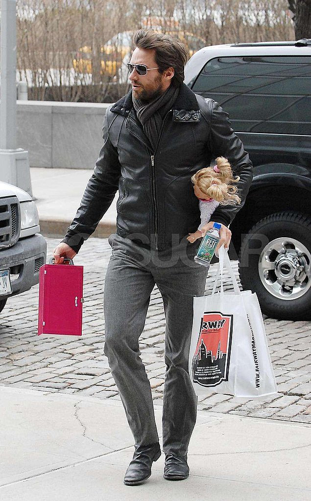 Hugh Jackman Carries His Kid's Toys