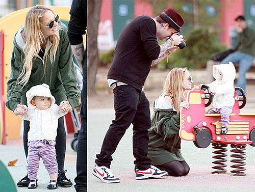Photos of Nicole Richie, Joel Madden, Harlow Madden at the Playground in LA