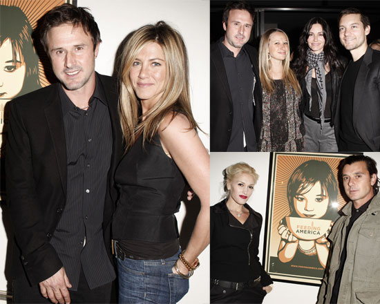 Jennifer Aniston and David Arquette