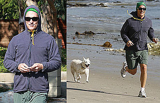 Photos of Matthew McConaughey Running on the Beach in Malibu