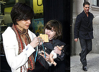 Photos of Suri Cruise, Katie Holmes, and Tom Cruise, Who Opens Up About Jett Travolta, in NYC