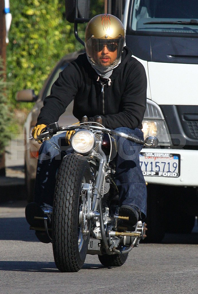 Brad Pitt Goes For a Ride