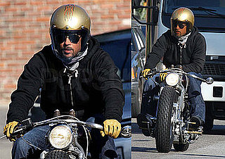Photos of Brad Pitt in LA on his Motorcycle