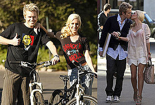 Photos of Heidi Montag and Spencer Pratt Wearing Obama Gear on a Bike Ride