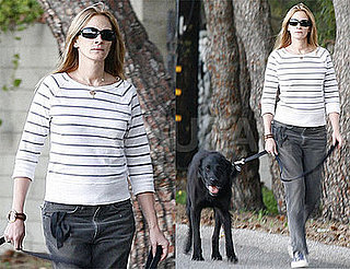 Photos of Julia Roberts Walking Her Dog in Los Angeles