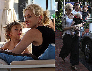 Photos of Gwen Stefani, Gavin Rossdale, Kingston Rossdale, Zuma Rossdale at Malibu Beach and Fred Segal