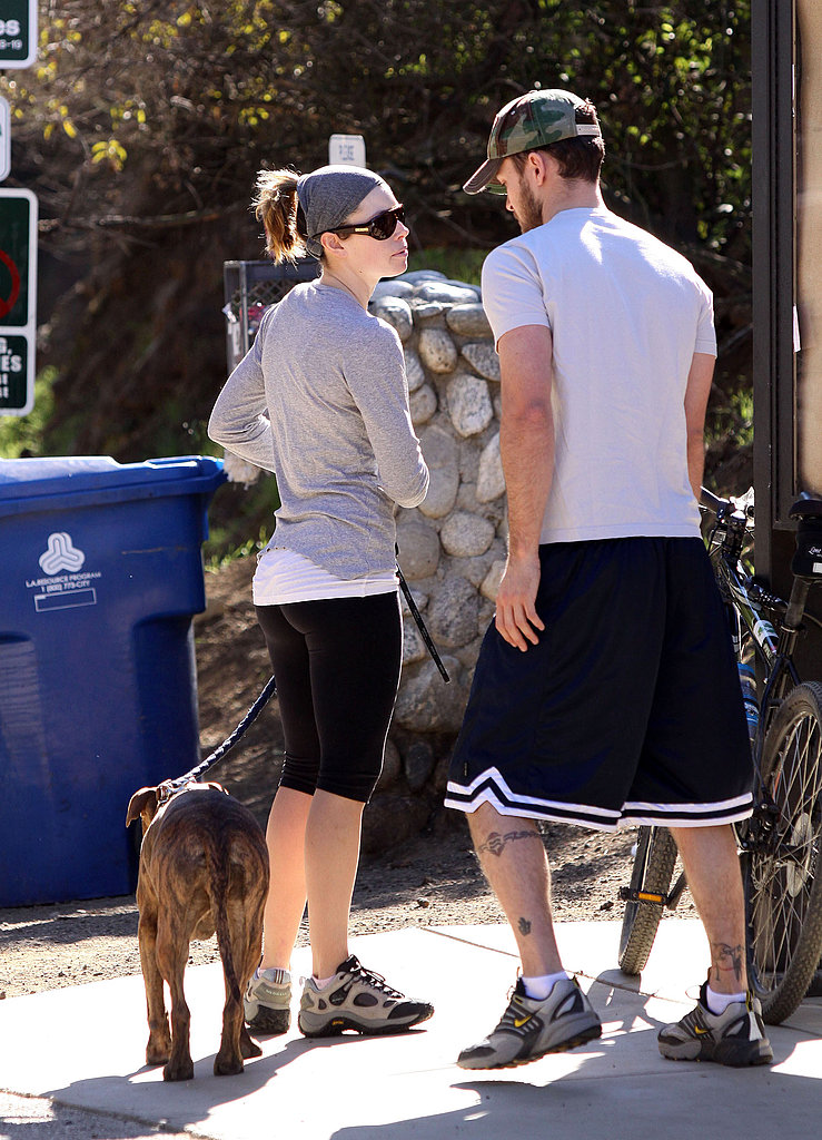 Justin Timberlake and Jessica Biel Walking Their Dog