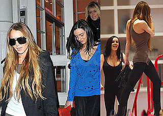 Photos of Lindsay, Dina, Ali Lohan Shopping in NYC, Rumors of Lindsay Starring as Snow White in Movie with Miley Cyrus