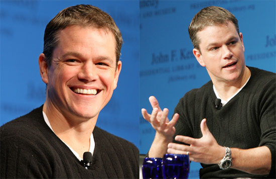 Matt Damon Visits Boston
