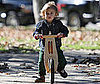 Photo of Kingston Rossdale Riding His Bike in a Park