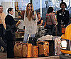 Photo of Mischa Barton with Lots of Luggage at LAX