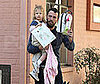 Photo of Ben Affleck Picking Up Violet From School