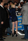 Dakota Fanning Visits David Letterman