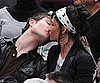 Photos of Ed Westwick and Jessica Szohr Kissing at Knicks-Lakers Game in NYC