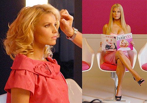 Jessica Simpson's Hair Photo Shoot For Hair Extensions